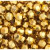 Facet Craft Beads Gold 6mm